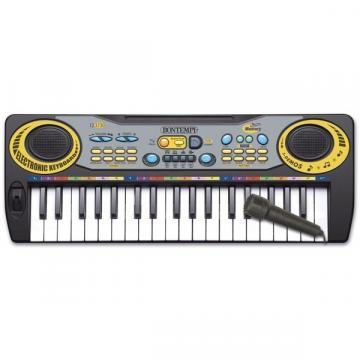 Orga electronica Bontempi, cu 37 de clapete si microfon