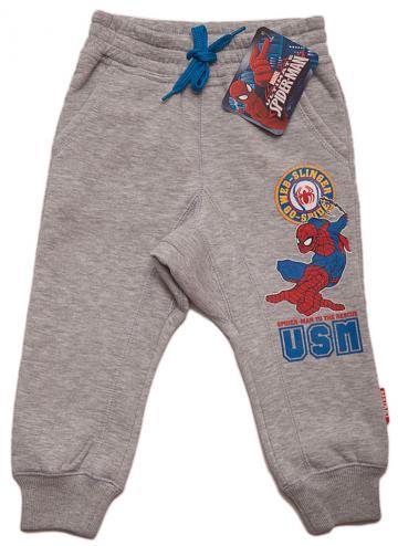 Pantaloni sport, bumbac, Spiderman, gri cu albastru