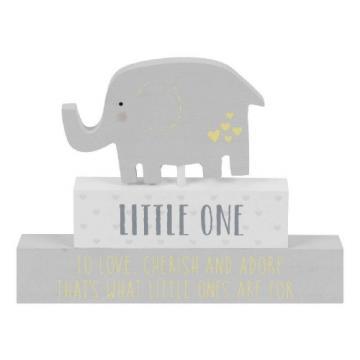 Cadou Placuta gri cu elefant Little One Celebrations de la Krbaby.ro - Cadouri Bebelusi