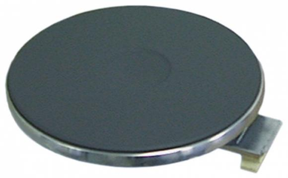 Plita electrica rotunda cu inel exterior inox, 220mm, 2000W