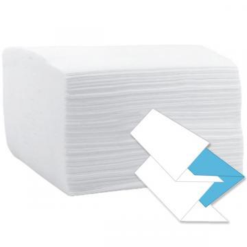 Prosop hartie V 21x24cm, 2 straturi, 100% celuloza, alb de la Sirius Distribution Srl