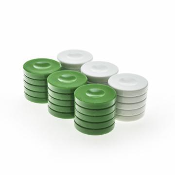 Puluri joc de table - plastic verde - 37mm de la Chess Events Srl