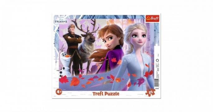 Puzzle cu chenar Frozen 2 cu 25 piese
