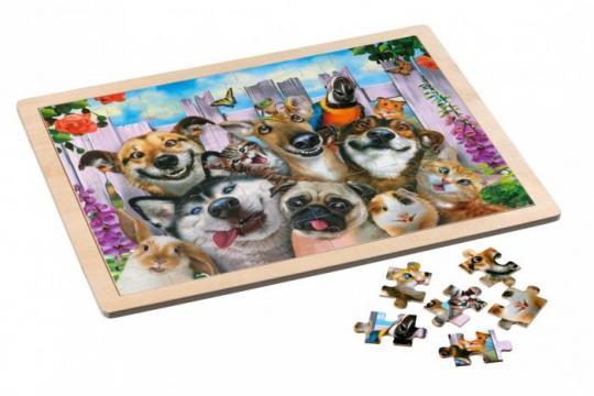 Puzzle in cadru de lemn, 48 piese - Pet de la Chess Events Srl