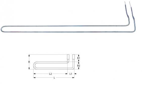 Rezistenta degivrare 900W, 230V, L=685mm
