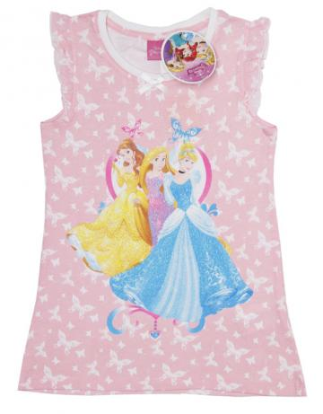 Rochita casual Printesele Disney, bumbac, roz