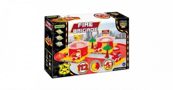 Set de joaca Statie de pompieri cu vehicule, Wader