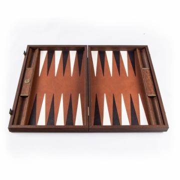 Set joc table backgammon piele Caramel/Brown de la Chess Events Srl