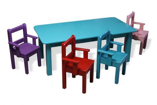 Set masuta si scaunele pentru camera copii