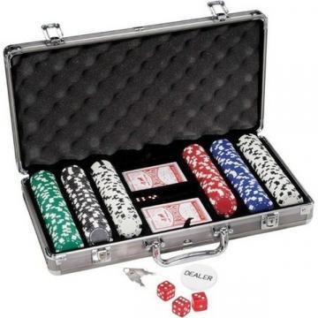 Set pentru Poker cu 300 jetoane si geanta diplomat inclusa