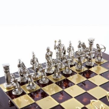 Set sah piese si tabla din metal - Arcasii (mare) de la Chess Events Srl