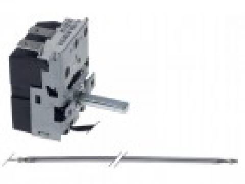 Termostat reglabil 50-290C, 1NO, bulb 3mmx165mm