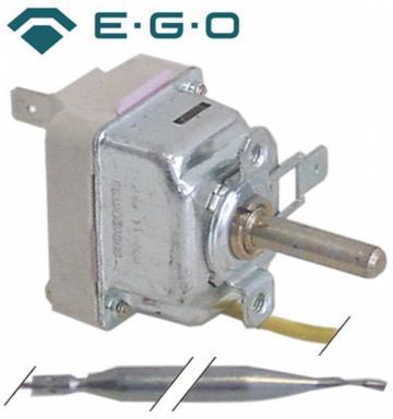 Termostat reglabil 93-180C, 1NO, 16A, bulb 6mmx133mm