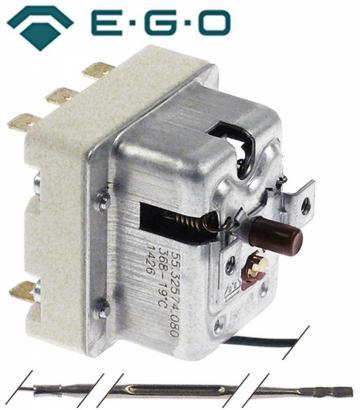 Termostat de siguranta 368*C, 3NO, 10A/400V, bulb 3mm x 160m