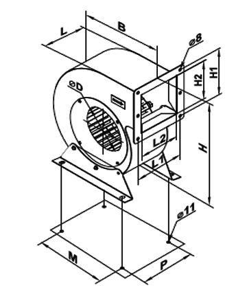 Ventilator centrifugal VCUN 200x 93-55-4 de la Ventdepot Srl