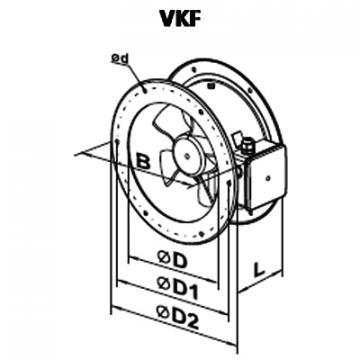 Ventilator axial VKF 4E 250