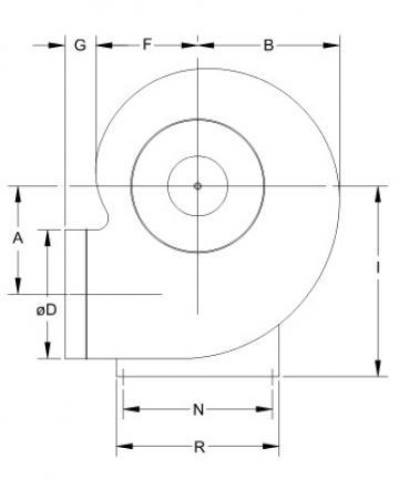 Ventilator centrifugal mediu coroziv MBP 45 T6 1/2