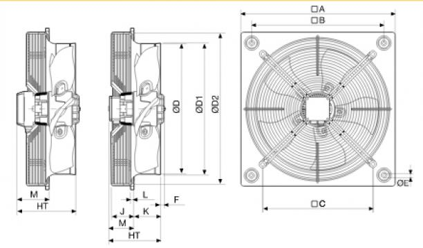 Ventilator axial HXBR/4-400
