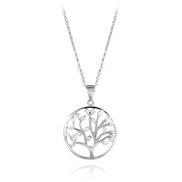 Colier argint 925 Silver Necklace with Tree of Life crystals de la Luxury Concepts Srl