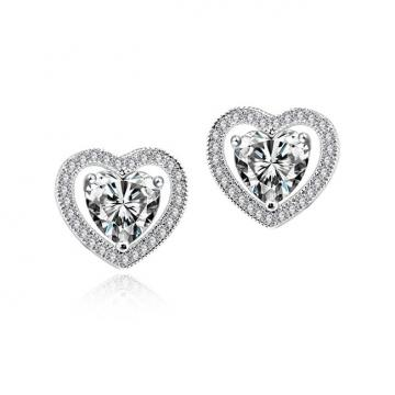 Cercei cu cristale Diamond Love