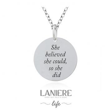 Colier din argint 925% Believe in You Laniere Life de la Luxury Concepts Srl