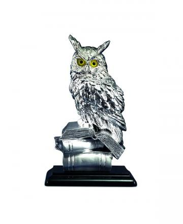 Decoratiune din argint The Wise Owl de la Luxury Concepts Srl