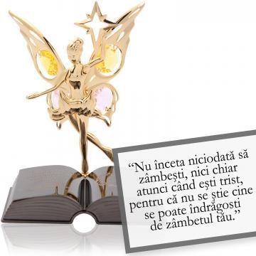 Figurina Garcia Marquez - despre zambet - Citat motivational