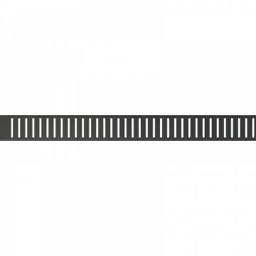 Gratar pentru canal de scurgere, negru-mat