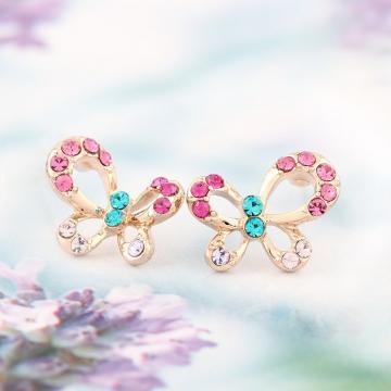 Cercei cu cristale austriece Happy Butterflies