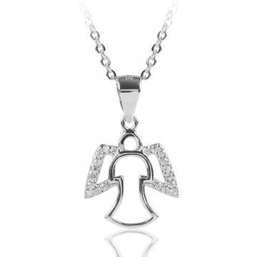 Pandantiv din argint 925 cu cristale Little Angel de la Luxury Concepts Srl