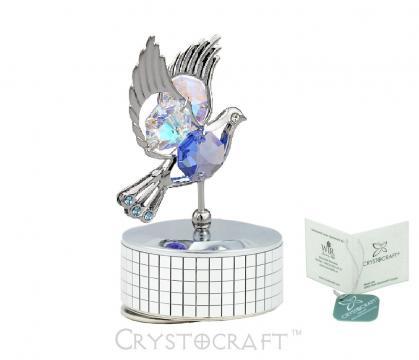 Decoratiune Porumbel muzical cu cristale Swarovski