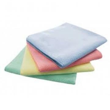 Set 5 lavete microfibra Eco albastra Ecolab, 32 x 30 cm de la Sanito Distribution Srl