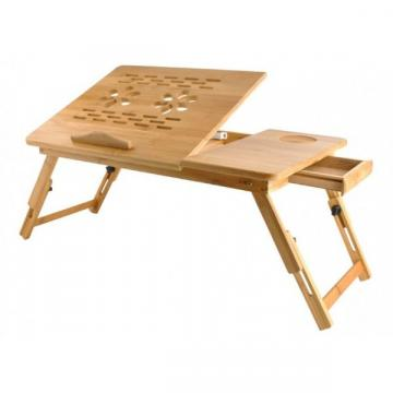 Masuta pliabila laptop din lemn de bambus, pliabila