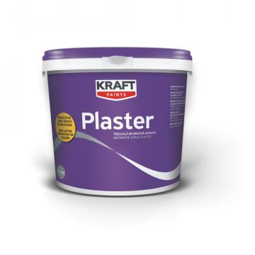 Tencuiala decorativa dura, Kraft Plaster K10 25 kg alb de la Olint Com Srl