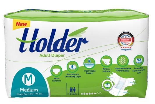 Scutece adulti Holder, marimea M - medium, 90 buc./set de la Europe One Dream Trend Srl