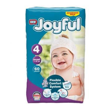 Scutece copii Joyful, 120 buc/set, Marime 4, Maxi, 7-18kg de la Europe One Dream Trend Srl