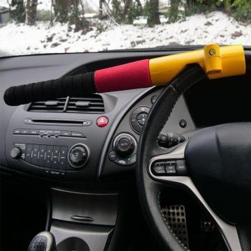 Antifurt auto pentru volan cu 2 chei si fixare pedala