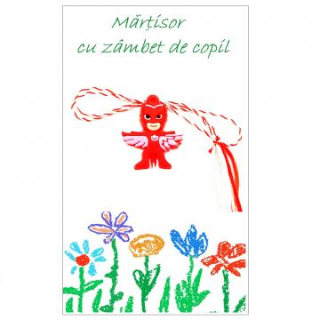 Martisor Eroi in pijamale Bufnita pe cartonas APC26-AT13 de la Eos Srl (www.martisoare-shop.ro)