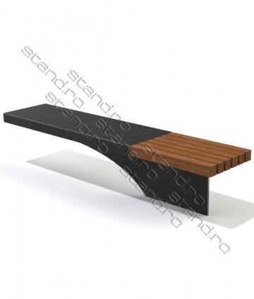 Banca metal si lemn pentru parcuri 0261 de la Rolix Impex Series Srl