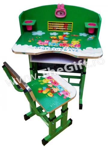 Birou si scaun pentru copii, reglabile, cu accesorii