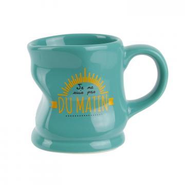 Cana ceramica deformata verde de la Plasma Trade Srl (happymax.ro)