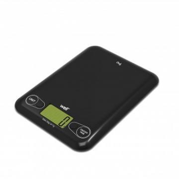 Cantar digital de bucatarie Well, maxim 3 kg, negru