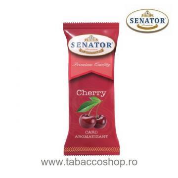Card aromatizant Senator Cherry pentru tutun si tigari de la Maferdi Srl