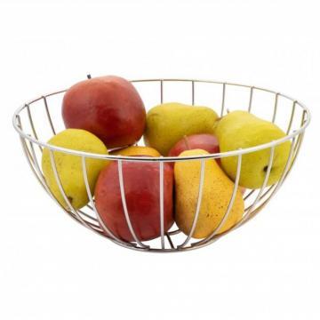 Cos pentru fructe, rotund, cromat - Clasic de la Plasma Trade Srl (happymax.ro)
