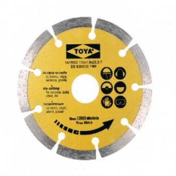 Disc diamantat cu segmente 110mm, Vorel 08710