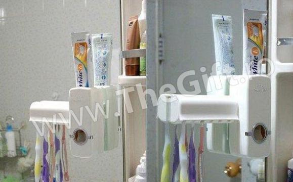 Dozator de pasta de dinti, cu suport pentru periute de la Thegift.ro - Cadouri Online