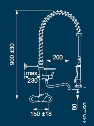 Dus prespalare vase cu monocomanda 548839 de la Kalva Solutions Srl