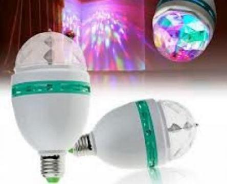 Lampa rotativa multicolora cu lumina
