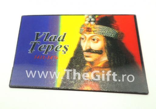 Magnet de frigider tricolor, Vlad Tepes 3D