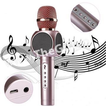 Microfon profesional wireless, cu boxe si Bluetooth